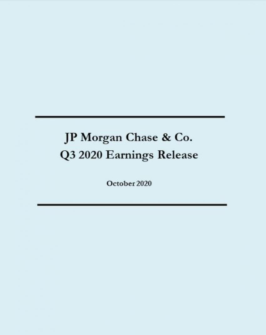 JP Morgan Q3 Earnings Review